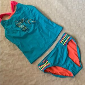 Other - Swim suit tankini girls sequin set